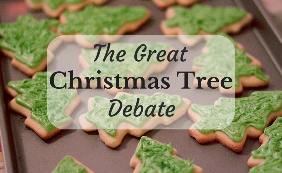 Tray of Iced Christmas Tree Biscuits