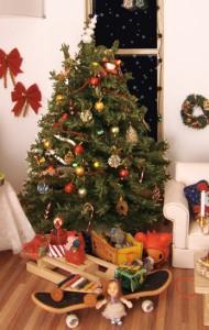 A beautofully decorated Christmas tree